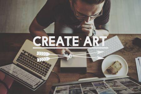 digital asset management: Online Business Work Office Art Concept