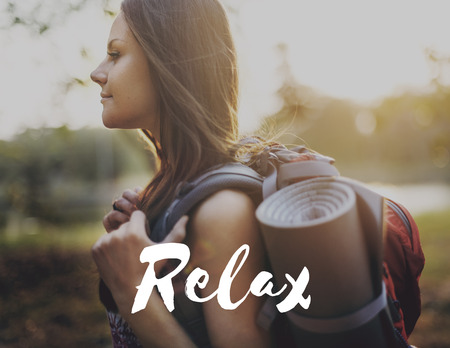 bank activities: Ralex Calm Chill Happiness Resting Vacation Concept Stock Photo