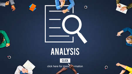 discovery: Analysis Results Discovery Investigation Concept Stock Photo