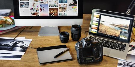 Caméra Concept Photographie Design Studio Edition Banque d'images
