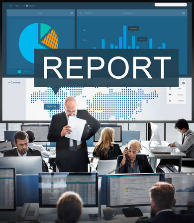 hectic: Report Research Resulting Information Graphic Concept
