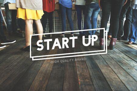 meetup: Start Up Business Development Enterprise Launch Concept Stock Photo