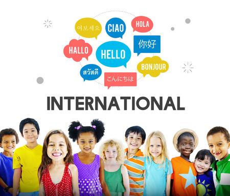 Komunikacja w językach obcych Powitanie koncepcji na całym świecie