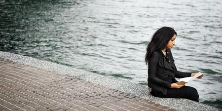 depressive: Woman African American Depressive Sad Female Concept