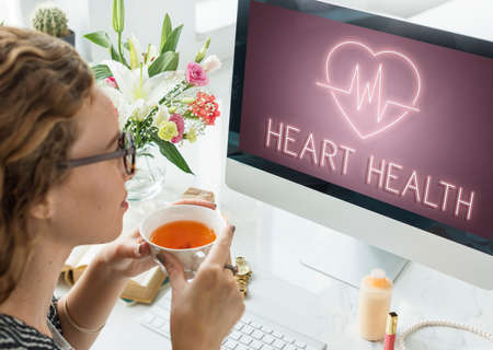 cardiac: Cardiac Cardiovascular Disease Heart Graphic Concept