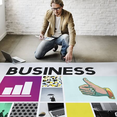 thumps up: Business Strategy Growth Corporation Concept Stock Photo