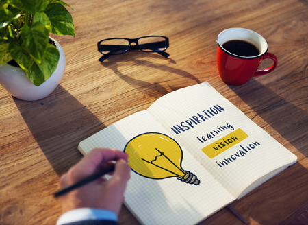 invention: Creative Think Invention Inspiration Concept Stock Photo