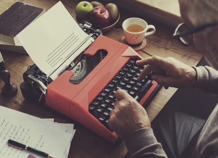 Typewriter Typing Retro Novel Literature Old Concept Stock Photo