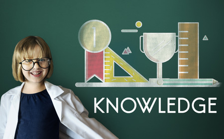 geeky: Academic Knowledge Literacy Wisdom Education Concept Stock Photo