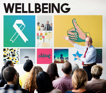 workplace wellness: Ribbon Cure Healthcare Treatment Concept