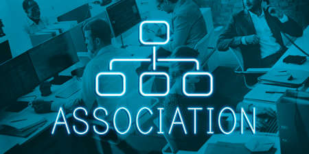 Association Organization Chart Business Company Concept