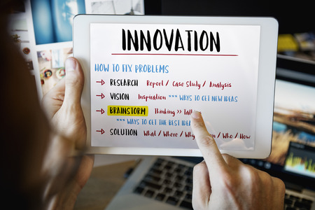 creativity: Innovation Creativity Brainstorm Plan Concept Stock Photo