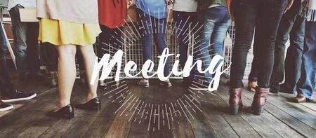 Meeting Meetup Organization Text Concept Stock Photo