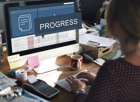 Analytics Marketing Research Business Data Progress Concept 版權商用圖片