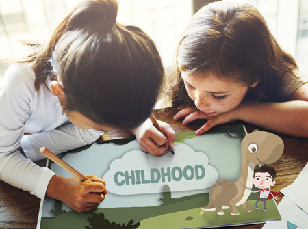 enjoyment: Kids Playful Young Childhood Enjoyment Concept