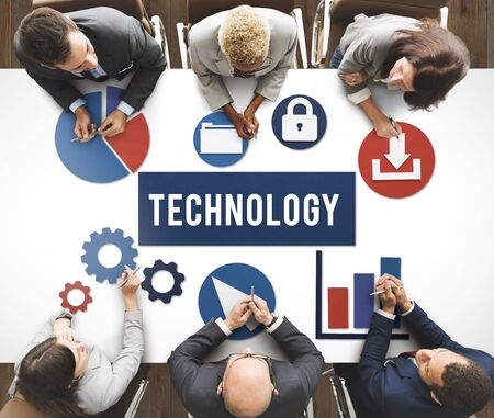 business graphics: Business Technology Advanced Graphics Concept Stock Photo