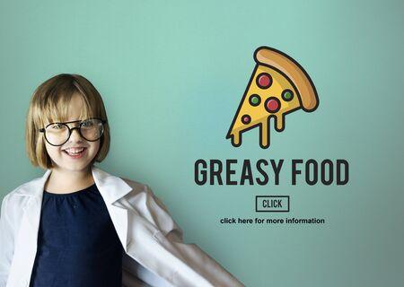 obesidad infantil: Calories Junk Food Unhealthy Obesity Concept Foto de archivo