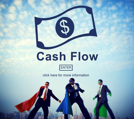 inflow: Cash Flow Business Money Financial Concept Stock Photo