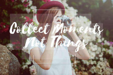 collect: Collect Moments Enjoyment Explore Lifestyle Concept