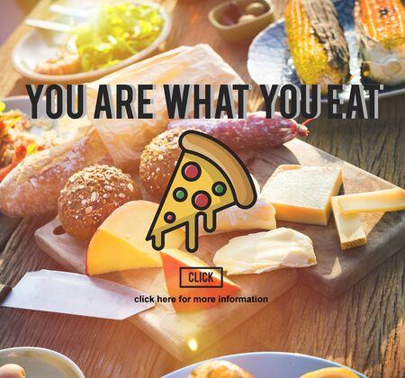 PIzza Slice Junkfood Obesity Calories Concept Stock Photo