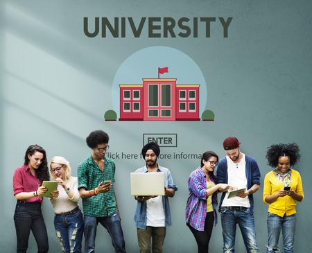 Concepto campus universitario de Educación conocimiento escolar