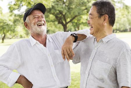 bros: Bros Buddies Elderly Retirement Rest Talking Concept