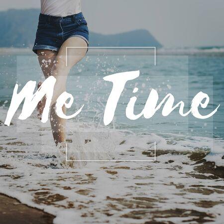 punctual: Me Time por vida Puntual concepto de gestión de la Lista