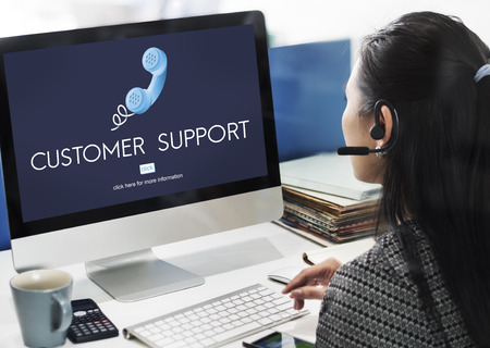 customer support: Customer Support Assistnace Help Advice Client Concept