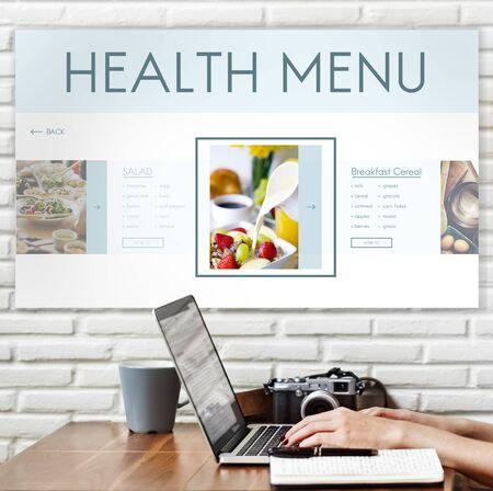 buen vivir: Concepto de nutrición sana Alimentos Bienestar Estilo de Vida