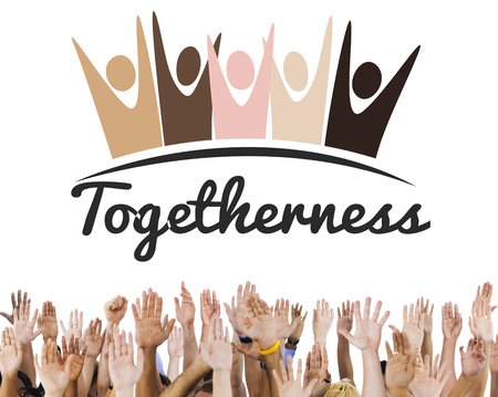 human hands: Diversity Nationalitise Unity Togetherness Graphic Concept Stock Photo