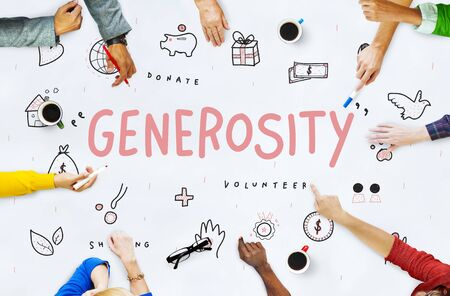generosidad: Generosity Donations Charity Foundation Support Concept
