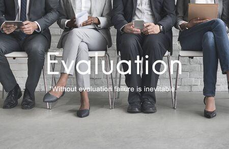 business performance: Evaluation Assessment Performance Business Development Concept
