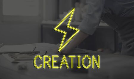 career timing: Handcraft Design Creation Business Concept