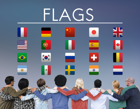 huddle: Flag Countries Foreign International Symbol Concept