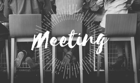 meetup: Meeting Meetup Organization Text Concept Stock Photo