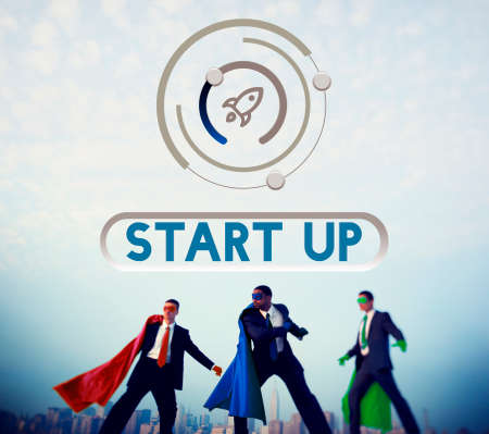 powerful creativity: Business Startup Launch Strategy Vision Concept