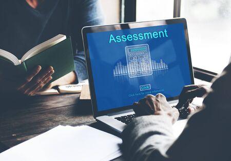 book reviews: Assessment Audit Evaluation Control Management Concept Stock Photo