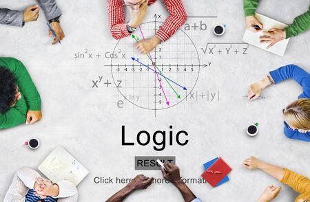 lógica: Inteligencia lógica motivo racional Solución Ideas Concept