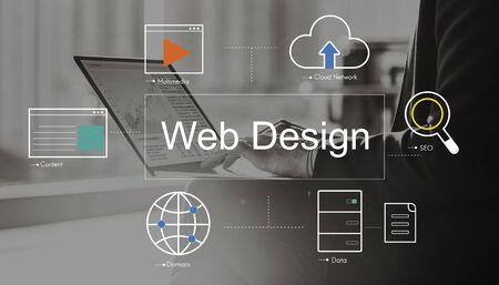 Big Data Domain Web-Seite SEO-Konzept