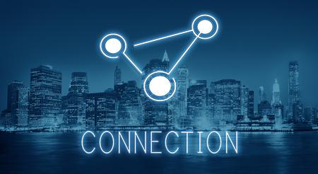 世界規模の通信接続グローバル化技術コンセプト 写真素材