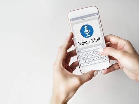 voice mail: Voice Mail Message Notification Communication Concept