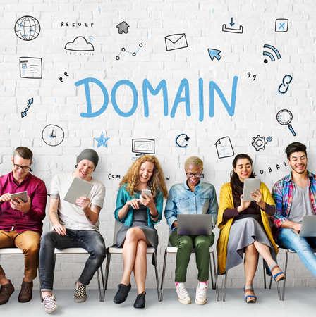 diversity domain: Webpage Browser Digital Icon Symbols Concept