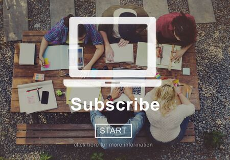Subscribe Advertising Markeing Membership Concept