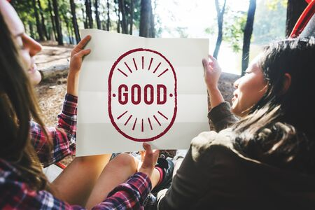 satisfying: Good Excellent Positive Optimistic Well Graphic Concept