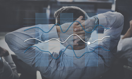 line graph: Line Graph Business Data Anaysis concept Stock Photo
