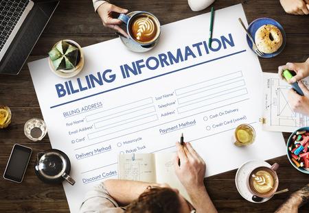 billing: Invoice Billing Information Form Graphic Concept