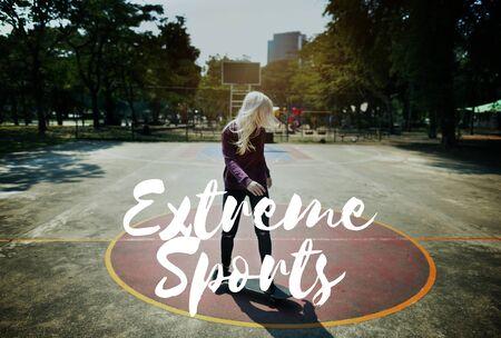 adrenaline: Extreme Sports Dare Courage Energetic Adrenaline Concept Stock Photo