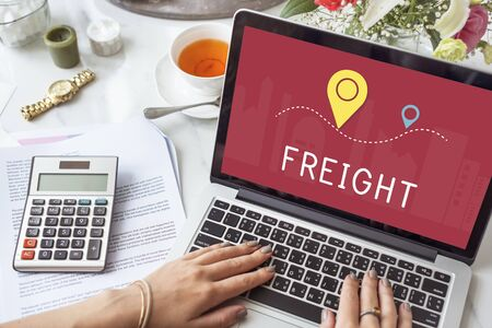 realtime: Shipping Logistic Delivery Freight Cargo Concept