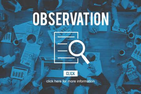 investigaci�n: Observaci�n de Investigaci�n Investigaci�n Descubrimiento Foto de archivo