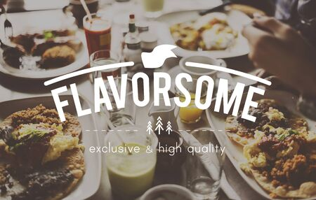licking finger: Food Flavorsome Hospitality Delight Concept